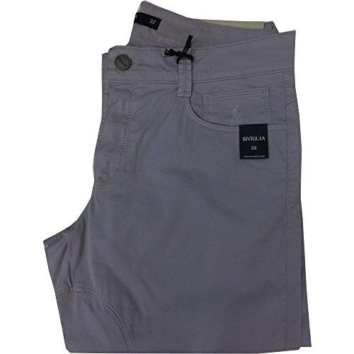Siviglia Pantalone uomo AN53 - Slim Elasticizzato Made in Italy (32, glicine)