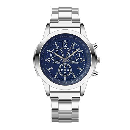 Juliyues Herren Uhren Rostfreier Stahl Band Sport Analog Quartz Kleid Uhr Herren Men Fashion Business Edelstahl Armbanduhr-Armband -