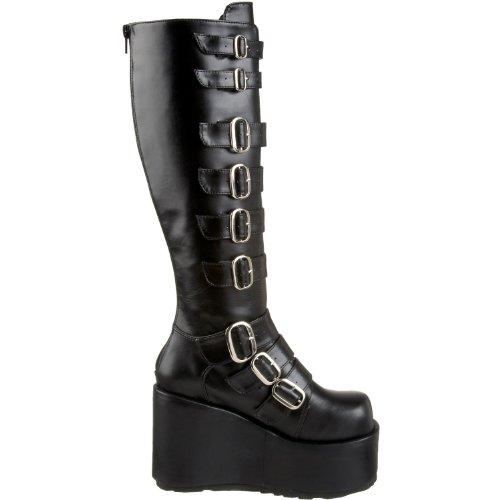 Demonia Veggie Goth Punk Stiefel Concord-108 mattschwarz Gr.37 rALHE