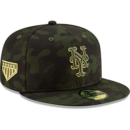 New Era New York Mets 2019 MLB Armed Forces Day On-Field 59FIFTY Fitted Hat - Camo, Camouflage, 7 1/2 New York Mets Baseball