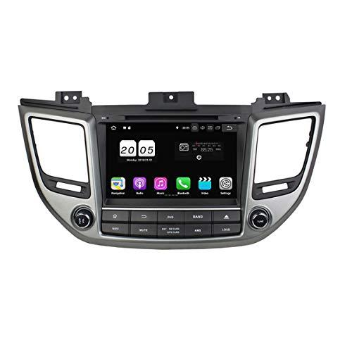 droid 8.1 OS Autoradio für Hyundai IX35 / Tucson 2015 2016 2017,DAB+ Radio kapazitiver Touchscreen mit Quad Core 1.5G CPU 16G Flash und 2G DDR3 RAM GPS Navi Radio DVD Player ()