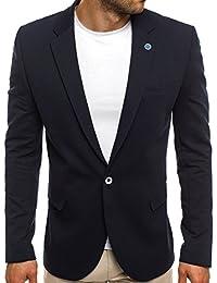 OZONEE Herren Sakko Business Anzug Kurzmantel OZN406