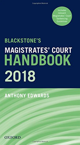 Blackstone's Magistrates' Court Handbook 2018 por Anthony Edwards