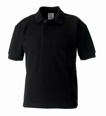 Kids polo shirt black age 1-2