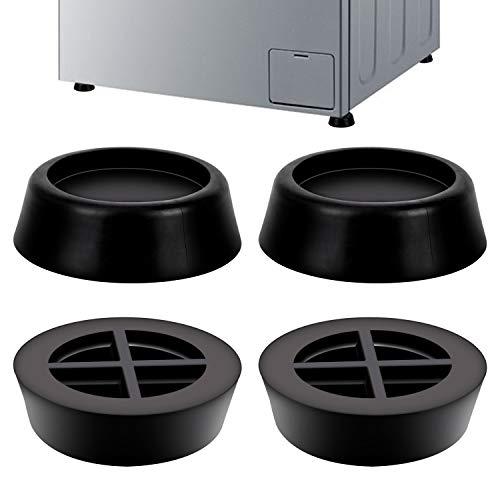 LUTER Schwingungsdämpfer Vibrationsdämpfer Antivibrationsmatte für Waschmaschine & Trockner Antivibration und Anti-Walk (4 Stück)