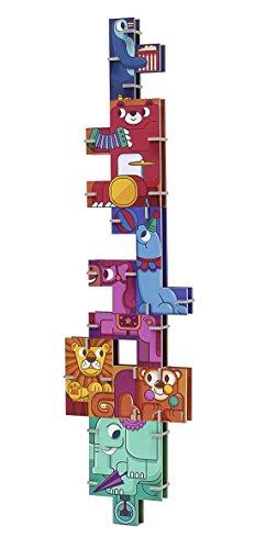 Krooom - Lote de 2 cajas de almacenaje con tapas (16 x 26 x 15 cm), diseño de animales, color azul y verde