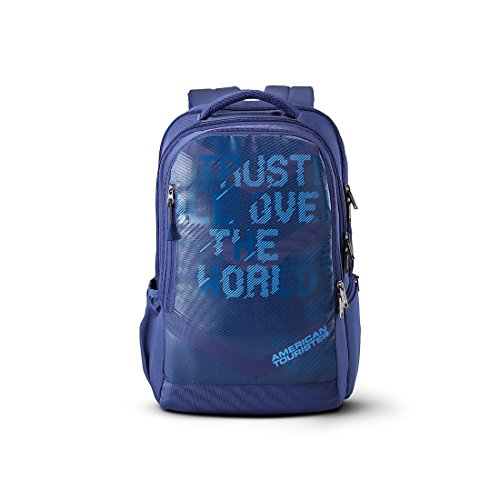 American Tourister X-Jock 26.5 Ltrs Blue Laptop Backpack (Fi7 (0) 01 001)