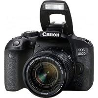 Canon EOS 800D - Fotocamera Digitale Reflex + Obiettivo EF-S 18-55 mm f/4-5.6 IS STM - Nero