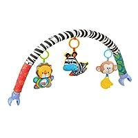 Amazemarket Baby Infant Kids Toy Soft Plush Stroller Clip Bed Crib Pram Hanging Animals Zebra Lion Monkey Arch Squeak/Rattle/Teether