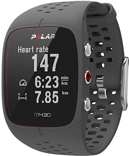 Polar Unisex M430 Gps Running Watch with Wrist-Based Heart Rate Advanced Training Features and 24/7 Activity Tracking, Grey, Large