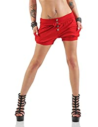 Damen Shorts Kurze Hose Chino Bermuda Pants in angesagten Farben ( 506 )