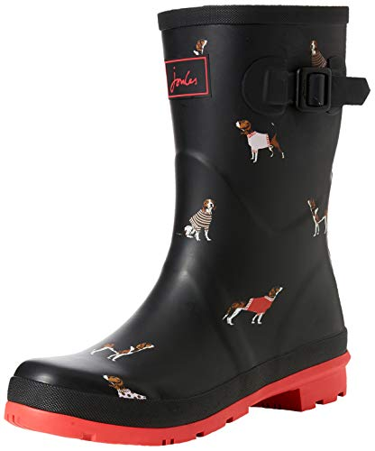 Tom Joule Damen Molly Welly Gummistiefel, Schwarz (Black Jumper Dog Blkjdog), 39 EU