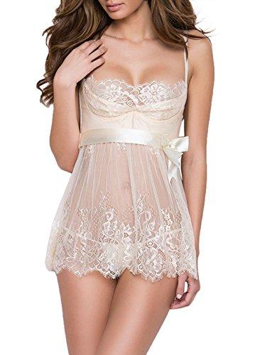 Sexy Dessous Erotik Negligee Nachthemd Damen Nachtwäsche Spitze Reizwäsche Frauen Babydoll Kleid Große Größen