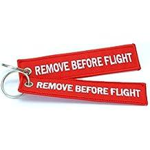 Aviamart - Set di 2 portachiavi/etichette per