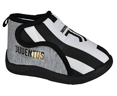 Juventus calcio pantofole bambino ciabatte juve ps 25362 nuovo logo jj-26-grigio
