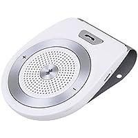 Bluetooth Kits de coche manos libres, Bluetooth 4.1manos libres movimiento encendido Kit de coche música estéreo altavoz inalámbrico cargador de coche sol visera y micrófono incorporado Reproductor de receptor adaptador de Audio, conecta 2móvil FDG