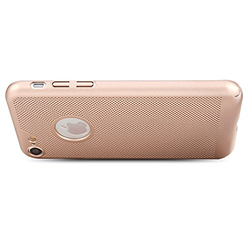 "MOONCASE iPhone 7/iPhone 8 Coque, Rugged PC Armure Chaleur Dissipation Étuis Cases Ultra Slim Anti-éraflure Antichoc Protection Housse pour iPhone 8 4.7"" Golden Rose Gold"