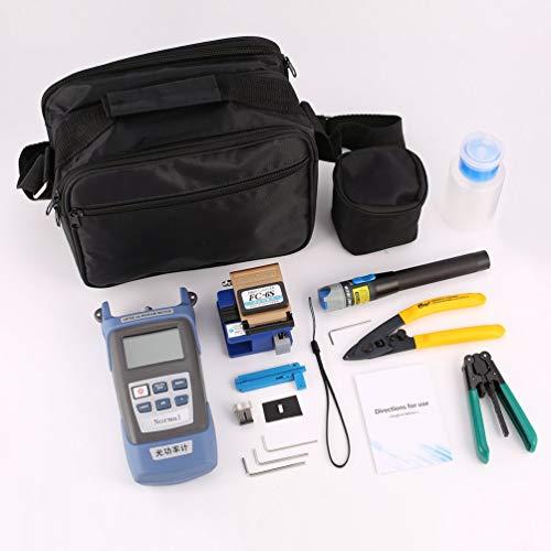 FTTH Fiber Optic Tool Kit Faser Cleaver FC-6S Optische Leistungsmesser Kabel Abisolierzange Visual Fault Locator 5 mW