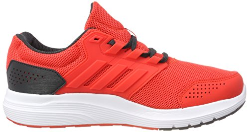adidas Galaxy 4, Chaussures de Running Homme Rouge (Hi-Reset Red/Hi-Reset Red/Carbon 0)