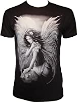 Darkside Angelic Fairy Nymph Fantasy Myth Goth Biker Rock Emo T-Shirt Unisex