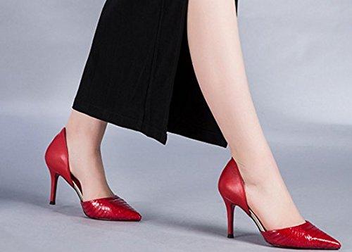 Ete Lady à bout des chaussures en cuir de serpent/Chaussures talons aiguilles de derme supérieur B