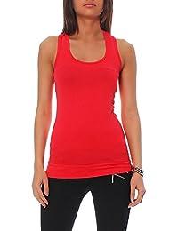 Top T-Shirt Basic Tank viele verschiedene Farben One Size Damen (rot)