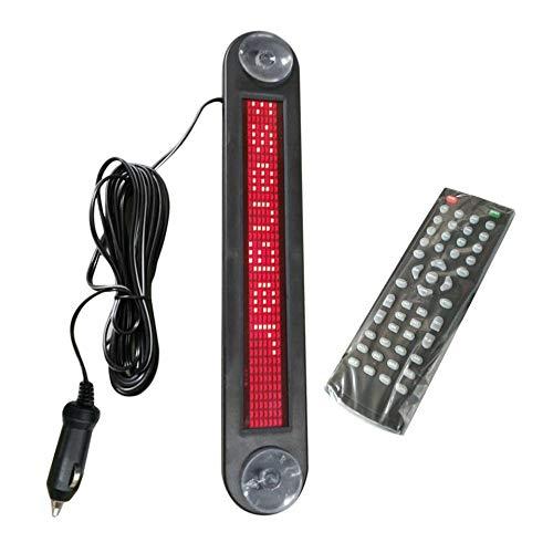 DC12V Auto LED Zeichen Fernbedienung Programmierbare Roll Informationen Englisch Buchstaben Zeichen Werbung LED Bildschirm 7x40 Pixel -