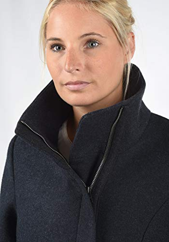 DESIRES Wolke Damen Winter Jacke Mantel Wollmantel Winterjacke mit Stehkragen, Größe:XS, Farbe:Insignia Blue Melange (8991) - 5