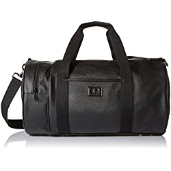 Fred Perry Saffiano Barrel Homme Holdall Noir ,Black ,One Size