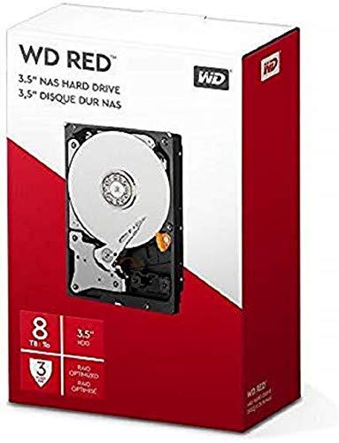 Western Digital WD Red interne Festplatte 8 TB (3,5 Zoll, NAS Festplatte, 5400U/min, SATA 6 Gbit/s, NASware-Technologie, für NAS-Systeme im Dauerbetrieb) rot