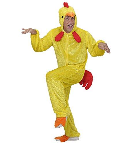 Huhn Mit Mann Kostüm - WIDMANN 9265A - Erwachsenenkostüm Huhn, Overall mit Maske, Größe M