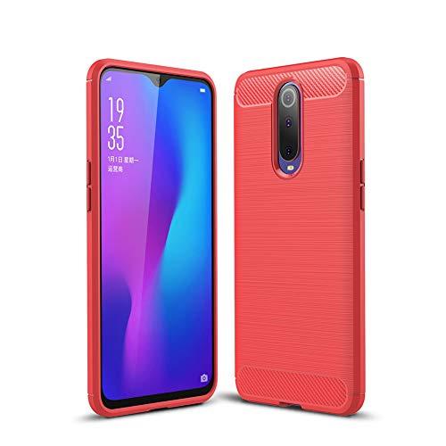 """HERCN Oppo RX17 PRO 6.4"""" Custodia, Ultra Sottile Anti-graffio Antiscivolo Resistente Custodia Silicone Case Molle di TPU Case Cover per Oppo RX17 PRO Smartphone (Rosso)"""