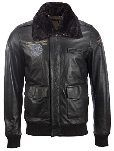 Leder-flug-jacke (Herren Wahrer Bomber Pilot Flug Sehr Stilvoll Echtes Super Weich Leder Jacke Mit speziellen Abzeichen Von MDK)
