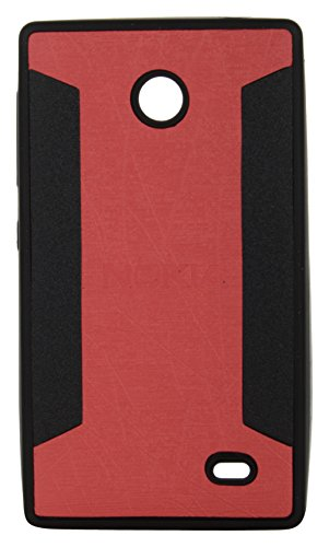 iCandy™ 2 Color Soft Lather Finish Back Cover For Nokia X / X+ - Red  available at amazon for Rs.115