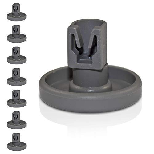 Universal Korbrollen für Spülmaschinen | 8 Stück Unterkorbrollen | geeignet für viele Spülmaschinen | 24 Monate Geld-Zurück Garantie!