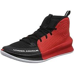 Under Armour UA Jet, Zapatos de Baloncesto para Hombre, Negro (Black/Red/White (003) 003), 45 EU