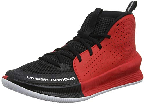 Under Armour Herren UA Jet Basketballschuhe, Schwarz (Black/Red/White (003) 003), 45 EU
