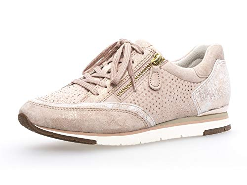 Gabor Damen Low-Top Sneaker 24.322, Frauen Sneaker Low,Halbschuh,Schnürschuh,Strassenschuh,Business,Freizeit,rame/Skin,38.5 EU / 5.5 UK
