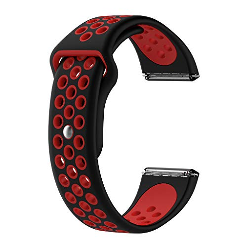 LANDUM Sportarmband aus weichem Silikon für Fitbit Versa Smart-Armband, Blau rot