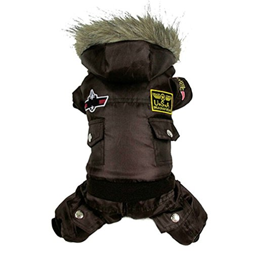 alkyoneus klein Large Pet Hund Winter Overall Warm Kleidung Track Suit Puppy (Pet Kostüm Groomer)