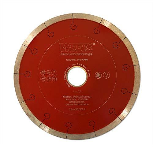 WEFEX Diamant-Trennscheibe Keramik-Premium 230 x 30/25,4 mm Kacheln Feinsteinzeug Keramik Fliesen -