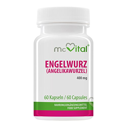 Engelwurz Angelikawurzel - 400 mg - Bei Magenbrennen - Stärkt das Magen-Darm System - 60 Kapseln
