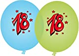 8 Luftballons * SUPER ... ICH BIN JETZT 18 * für den 18. Geburtstag von DH-Konzept // Graffiti Deko Ballons Party Set
