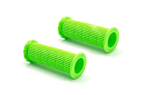 vhbw Lenkergriffe, Fahrradgriffe, grün 22mm für Kinder-Fahrrad