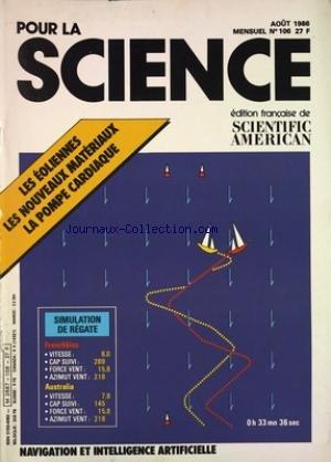 POUR LA SCIENCE [No 106] du 01/08/1986