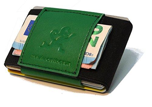 Premium veganes Slim Wallet & Kartenetui mit Geldklammer – Mini Portemonnaie für Herren & Damen - Kleine Geldbörse, minimalistischer Geldbeutel (Slim Zwei Wallet Pocket)