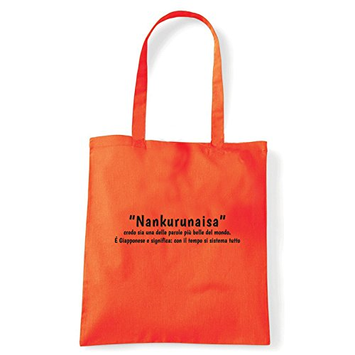Art T-shirt, Borsa Shoulder Nankurunaisa, Shopper, Mare Arancio