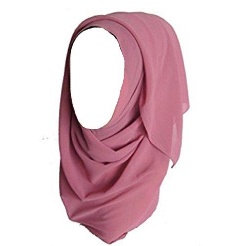 ILOVEDIY Muslim Hijab Viscose Schal islamischen Maxi Schal (Rosa)