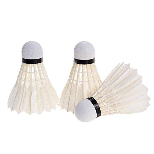 3Pcs Entraînement sportif Feather Badminton Sport Haute Qualité Compétition New Professional