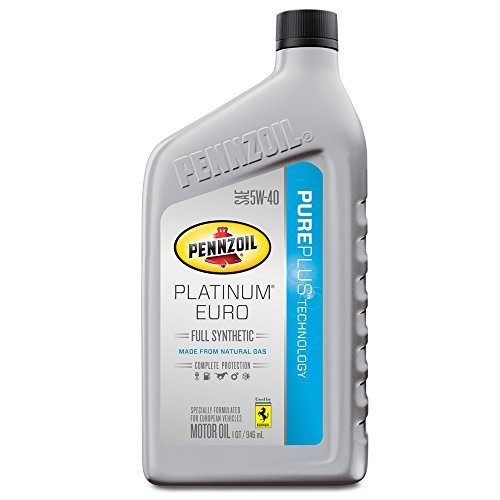 Pennzoil 550040834 Platinum Euro SAE 5W-40 Full Synthetic Motor Oil - 1...